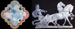 3D Painted Sky Ceiling and Roman Chariot Trompe Loeils