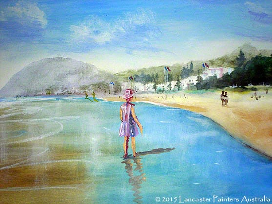 Water Scenes of Seascapes & Streams - Beach Girl