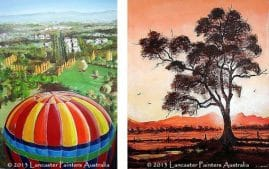 Beautiful Balloon Canberra and Flinders Ranges Gum Tree Art
