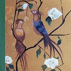 Beautiful Chinoiserie Birds on Gold Decorative Art