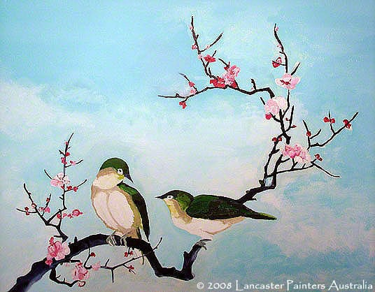Art - Animals, Birds and Flowers - Spring Birds