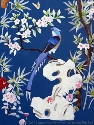 Chinoiserie Blue Bird