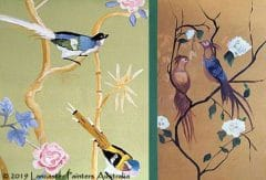 Chinoiserie Birds Hand Painted Art