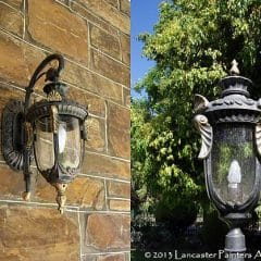 College Park Gilded Lamps
