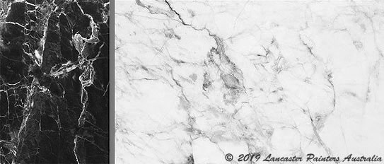 Decorative Black and White Marble