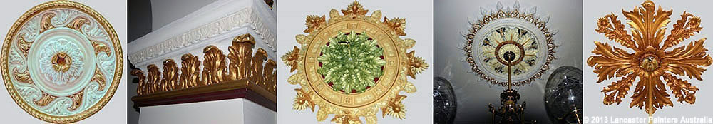Decorative Gilding of Ceiling Roses