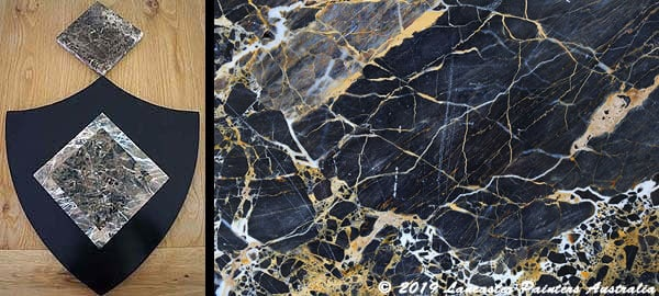 Emporardor Marble and Black and Gold Marble
