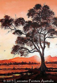 Flinders Ranges Sunset Landscape Art