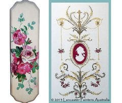 Floral Fingerplate Hand Painted Cameo