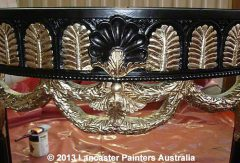 Furniture Restoration Silver Leaf Gilded Furniture