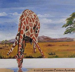 Giraffe Reflections Art