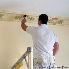 Gold Leaf Application to Decorative Cornices