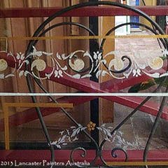 Hand Painted Frosted Glass Design