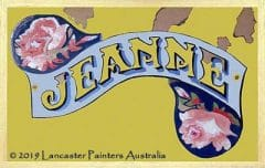 Hand Painted Jeanne Sign Writing