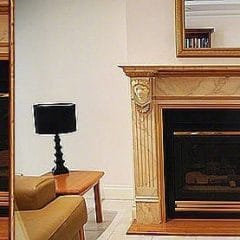 Hand Painted Marble Fireplace