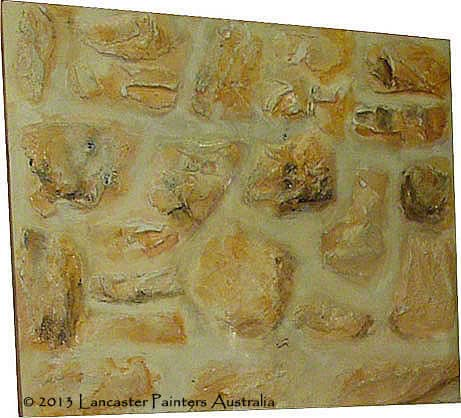 Hand Painted Rubble Stone