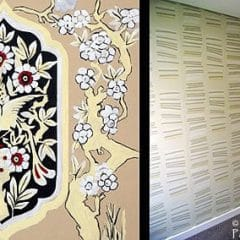 Hand Painted Wallpaper and Porters Sandstone Wallpaper