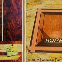 Hand Painted Wood Grain Signs
