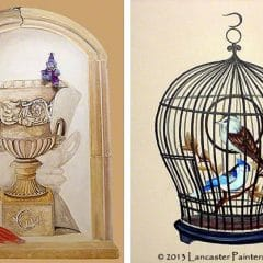 Monkey Business Art and Hand Painted Bird Cage