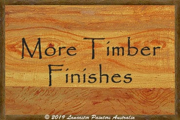 More Timber Finishes