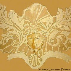 Hand Painted 3D Lady Moulding