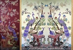 Hand Painted Chinoiserie Peacocks