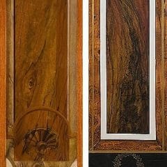 Painted Exotic Timber And Feathered Mahogany Wood