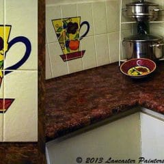Painted Micaceous Benchtop Finish