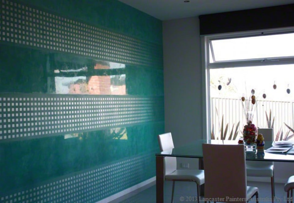 Patterned Venetian Plaster