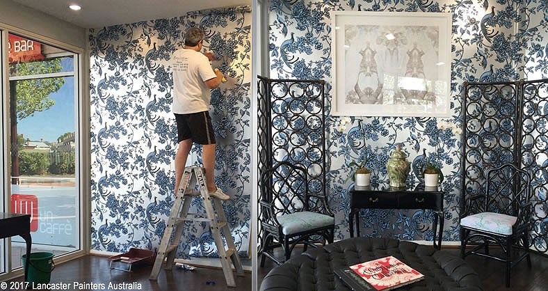 Signature Prints Wallpaper Installation in the Emma Hack Gallery