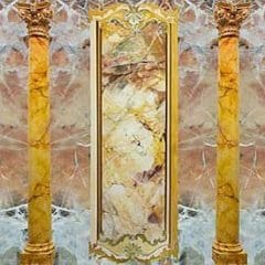 Saracolin Marble with Rance Marble Background