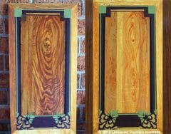 Stencilled Faux Wood Grain Panels