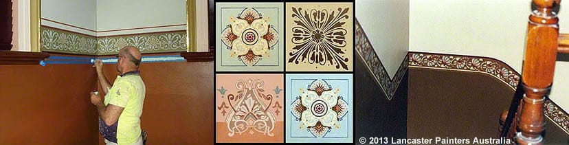 Hand Painted Traditional Stencils