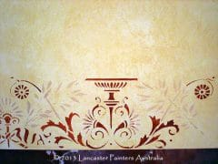 Wall Wash with Heritage Stencil