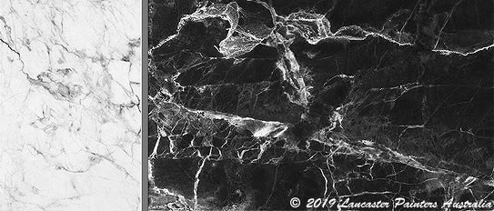 White and-Black Marble Panels